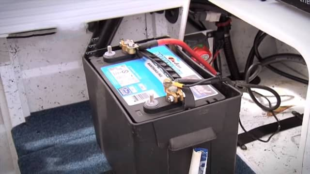 1-remove-battery-from-storage-area How to Charge A Deep Cycle Battery Properly?